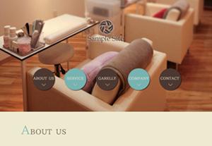 美容系店舗やデザイン事務所向けブログ付シングルページのテンプレート